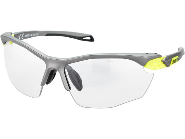 Alpina Twist Five HR VL+ Okulary rowerowe, tin matt-neon yellow/black